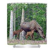 Nursing Moose Shower Curtain