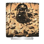 Nuts About Vintage Still Life Art Shower Curtain