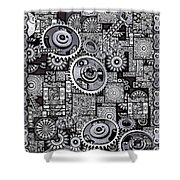 Nuts And Bolts Shower Curtain by Eleni Mac Synodinos