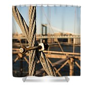 Nuts And Bolts Of The Brooklyn Bridge Shower Curtain