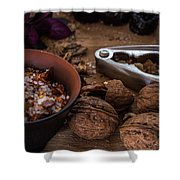 Nuts And Spices Series - Five Of Six Shower Curtain