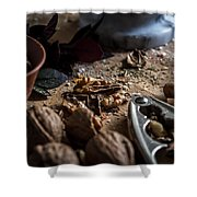 Nuts And Spices Series - One Of Six Shower Curtain