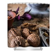 Nuts And Spices Series - Six Of Six Shower Curtain