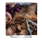 Nuts And Spices Series - Three Of Six Shower Curtain