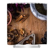 Nuts And Spices Series - Two Of Six Shower Curtain