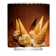 Nuts Over Ice-cream. Birthday Party Background Shower Curtain