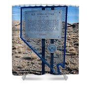 Nv-142 Old Spanish Trail Mountain Springs Pass Shower Curtain