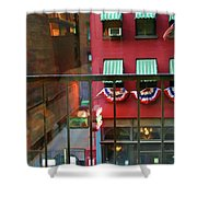 Ny Architecture Paint  Shower Curtain