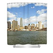 Ny East River Shower Curtain