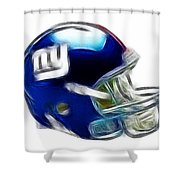 Ny Giants Helmet - Fantasy Art Shower Curtain