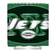 Ny Jets Fantasy Shower Curtain by Paul Ward