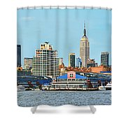Ny Skyline And Chelsea Piers Shower Curtain