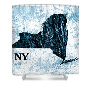 Ny State Map  Shower Curtain