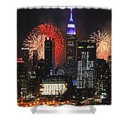 Nyc 4th Of July Fireworks Shower Curtain