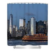 Nyc And Staten Island Ferry Shower Curtain