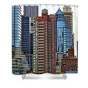 Nyc Architecture Buildings Tall  Shower Curtain