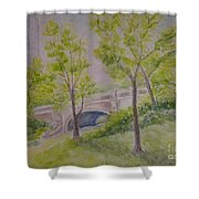 Nyc Central Park. Spring Shower Curtain