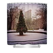 Nyc Christmas Shower Curtain