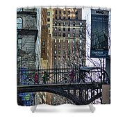 Nyc Crossings Daily Life Children  Shower Curtain
