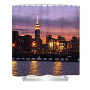 Sunset City Lights Shower Curtain