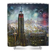 Nyc. Empire State Building Shower Curtain