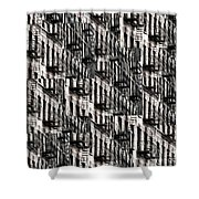 Nyc Fire Escapes Shower Curtain
