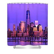 Nyc From Hoboken Shower Curtain