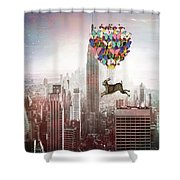 Nyc Hare Day Shower Curtain