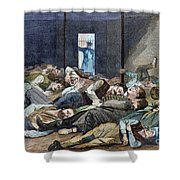 Nyc: Homeless, 1874 Shower Curtain