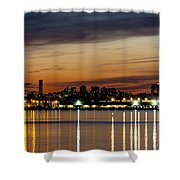 Nyc On A Still Night Shower Curtain