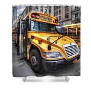 Nyc School Bus Shower Curtain