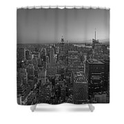 Nyc Sunset Bw Shower Curtain
