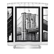 Nyc Three Bridges-east River Shower Curtain