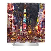 Nyc Times Square Shower Curtain
