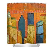Nyc With Chrysler Shower Curtain