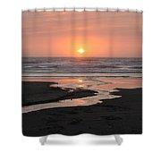 Nye Beach Sunset Shower Curtain