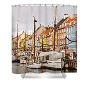 Nyhavn Area Copenhagen Shower Curtain