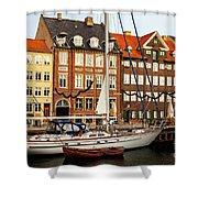 Nyhavn Area Of Copenhagen Shower Curtain