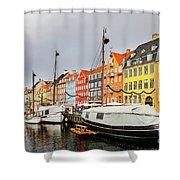 Nyhavn Harbour In Copenhagen Shower Curtain