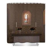 Nyker Round Church Altar Shower Curtain