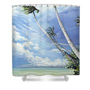 Nylon Pool Tobago. Shower Curtain by Karin  Dawn Kelshall- Best