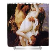 Nymph And Satyr Shower Curtain
