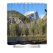 Nymph Lake In Rocky Mountain National Park Shower Curtain