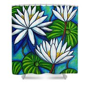 Nymphaea Blue Shower Curtain