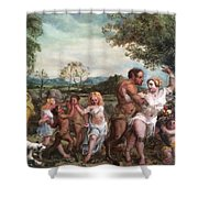 Nymphs And Satres Shower Curtain