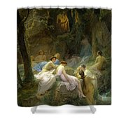 Nymphs Listening To The Songs Of Orpheus Shower Curtain