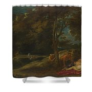 Nymphs Surprised By Satyrs Shower Curtain