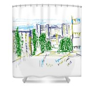 Nyzhny Novgorod, Russia, Kuznechiha. 24 August, 2015 Shower Curtain
