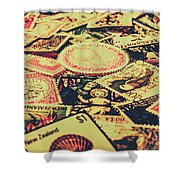 Nz Post Background Shower Curtain