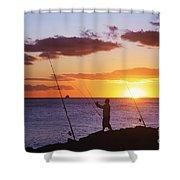 Oahu Fisherman Shower Curtain